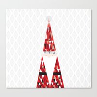 santa Canvas Prints featuring SANTA by Pardabon