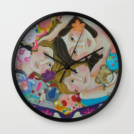 """""""Stuffies' Party"""" Wall Clock"""