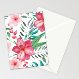 Watercolor Tropical Floral #1 Stationery Cards