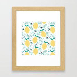 Lemon & Blueberry Pastel Framed Art Print