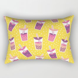 Bubble Tea Boba Pattern Rectangular Pillow