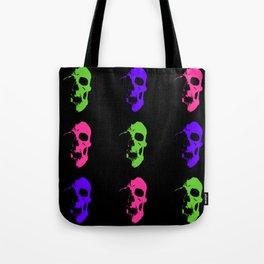 Skull 3x3 - Lime/Purple/Pink Tote Bag