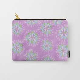 Lilac Petal Rose Carry-All Pouch