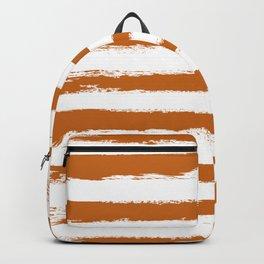 Autumn Maple STRIPES Handpainted Brushstrokes Backpack