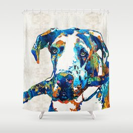 Great Dane Art - Stick With Me - By Sharon Cummings Shower Curtain