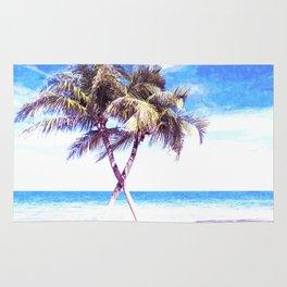 Palm Tree Beach Rug