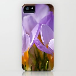 Blooming purple iPhone Case