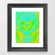 POP Skull Framed Art Print