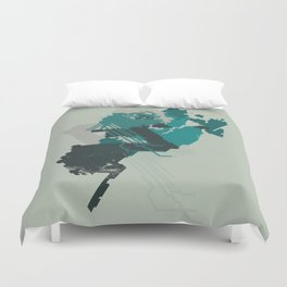 Geometric Mapping #5 • by Secret Peak Duvet Cover