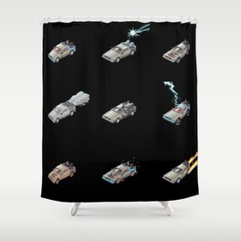 DMC DeLorean Pop black edition Shower Curtain