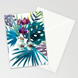 Tropical Watercolor Pattern Var. 6 Stationery Cards