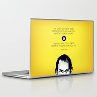 steve jobs Laptop & iPad Skins featuring Steve Jobs Quote by yplim