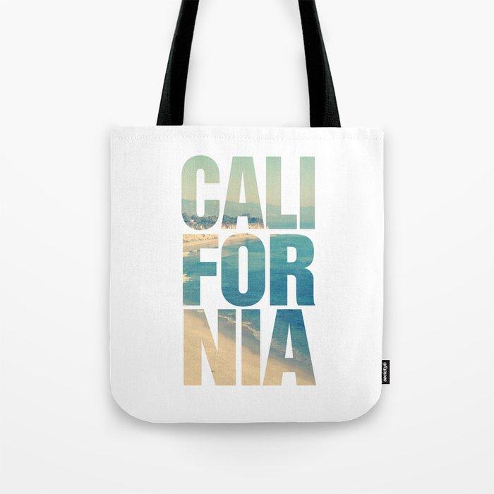 California Vintage Beach Summer Typography Tote Bag