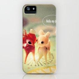 hello my deer iPhone Case