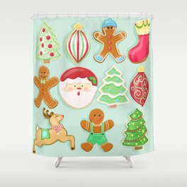 Baking Christmas Bright Shower Curtain