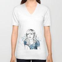 emma watson V-neck T-shirts featuring Emma by naidl