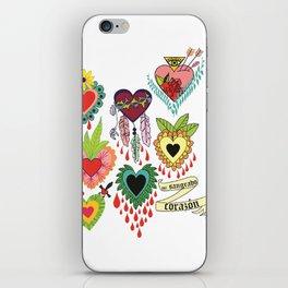 mi sangrado corazón♥ iPhone Skin