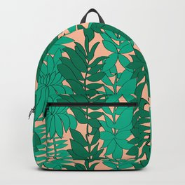 60's Chinoiserie Vines in Peach Backpack