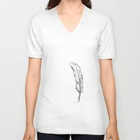 writing V-neck T-shirts featuring Writing by Steve Perrson