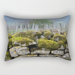 Vineyard Wall, Eastern France Rectangular Pillow