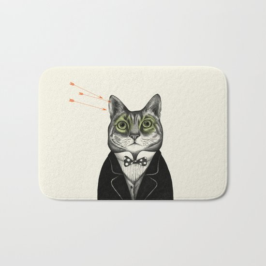 Gentleman cat  Bath Mat