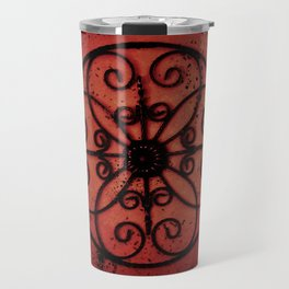 The metal design in red Travel Mug