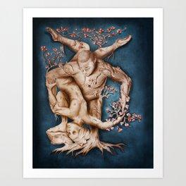 Entangled - Rustic Blue Art Print