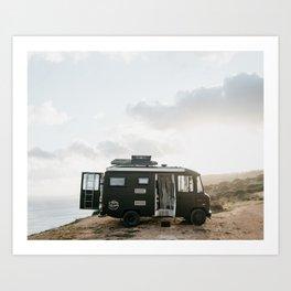 Campervan travel adventure in Portugal   Lagos sunset art print  Art Print