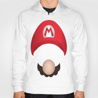 mario Hoodies featuring Mario by Aaron Macias