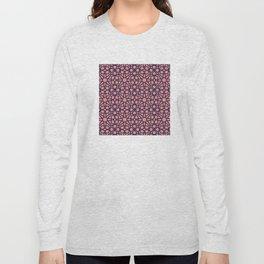 Whisper Pink Geometric Pattern Long Sleeve T-shirt