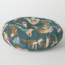 Otter Collection - Teal Palette Floor Pillow