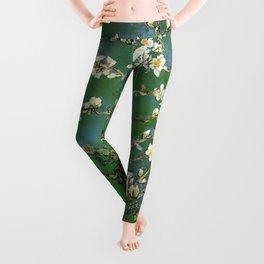 Almond Blossom - Vincent Van Gogh (avocado pastel) Leggings