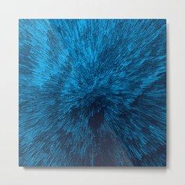 Bold Burst in Blue Metal Print