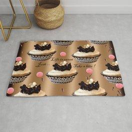 Life is sweet cupcakes Rug