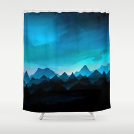 Night Storm In The Mountains Shower Curtain