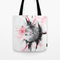 mars Tote Bags featuring Mars by Alexis Marcou