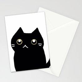 Black cat 589 Stationery Cards