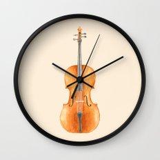 Cello - Watercolors Wall Clock