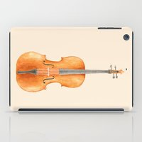 cello iPad Cases featuring Cello - Watercolors by Florent Bodart / Speakerine