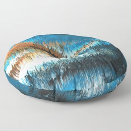 Blue Forest Shades Floor Pillow
