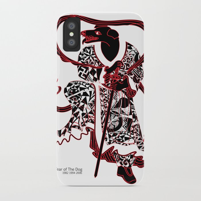 Chinese zodiac sign, Year of the Dog iPhone Case by tgrimm