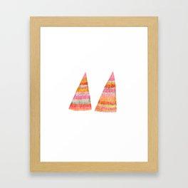 shaggy  triangle Framed Art Print