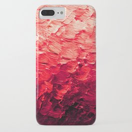 MERMAID SCALES 4 Red Vibrant Ocean Waves Splash Crimson Strawberry Summer Ombre Abstract Painting iPhone Case