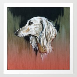 Saluki I - Illustrious dogs. Art Print