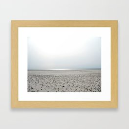 North Sea Beach, low tide Framed Art Print