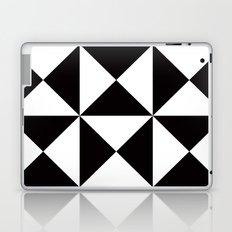 B/W triangle X4 pattern Laptop & iPad Skin