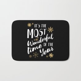 It's the Most Wonderful Time of the Year - Black Bath Mat