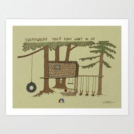 Tree Fort Art Print