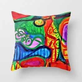 Pablo Picasso - Reclining woman and character - Digital Remastered Edition Throw Pillow