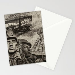 Mining Tribute Antique 1 Stationery Cards